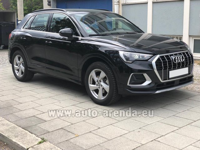Hire and delivery to Lisbon Portela airport the car Audi Q3 35 TFSI Quattro