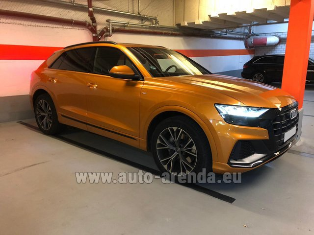 Hire and delivery to Lisbon Portela airport the car Audi Q8 50 TDI Quattro