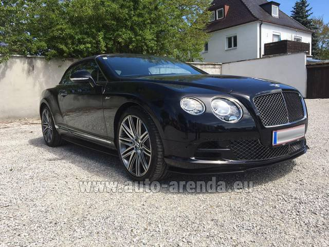 Rental Bentley Continental GTC V12-Speed in Faro