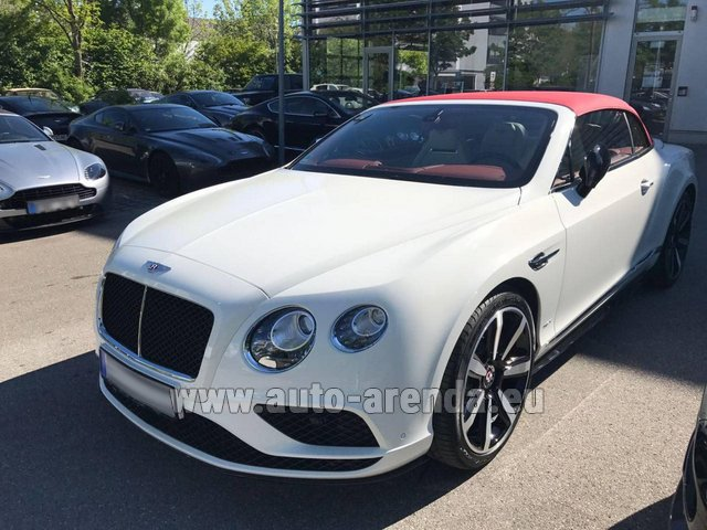 Hire and delivery to Lisbon Portela airport the car Bentley Continental GTC V8 S