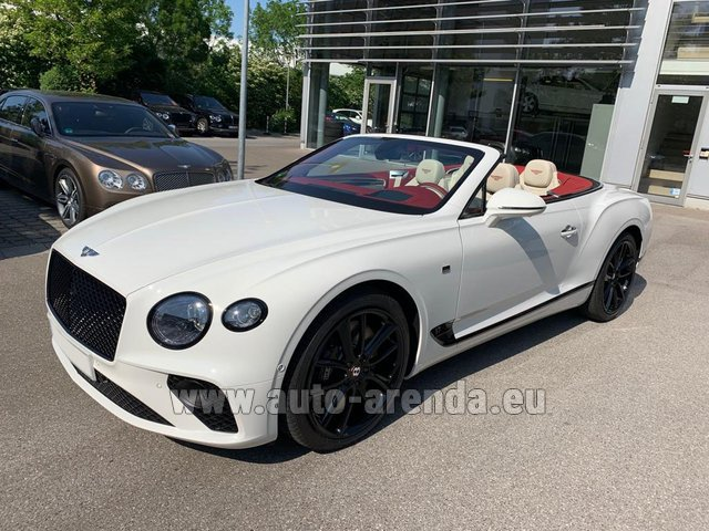 Hire and delivery to Lisbon Portela airport the car Bentley GTC W12 First Edition 2019
