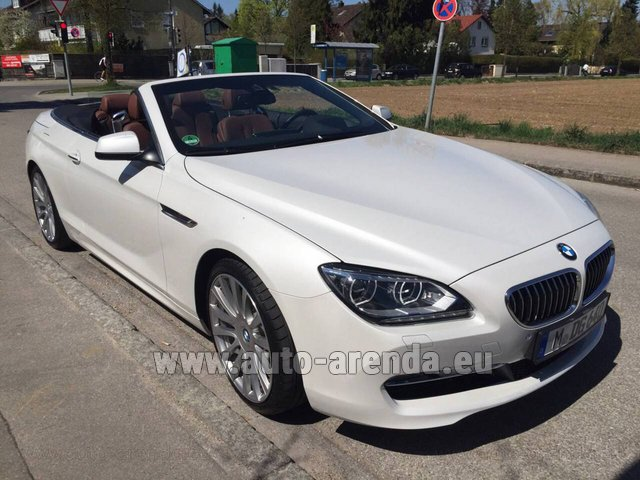 Hire and delivery to Lisbon Portela airport the car BMW 640 Cabrio Equipment M-Sportpaket