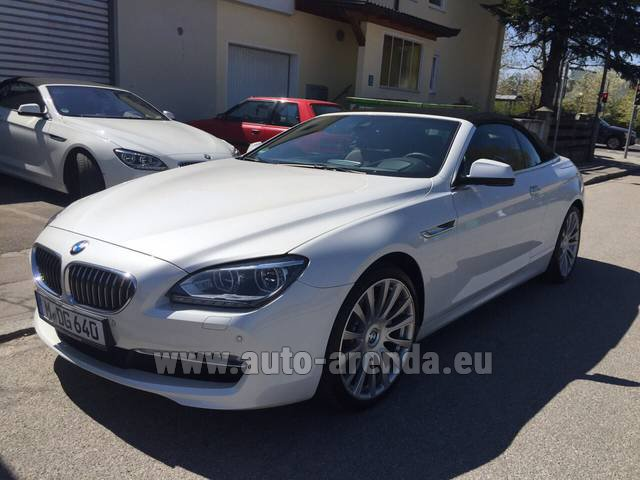 Hire and delivery to Lisbon Portela airport the car BMW 640d Cabrio Equipment M-Sportpaket