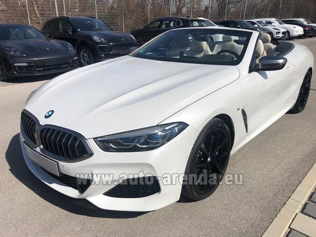 Hire and delivery to Lisbon Portela airport the car BMW M850i xDrive Cabrio
