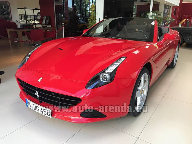 Rental Ferrari California T Convertible Red in Faro