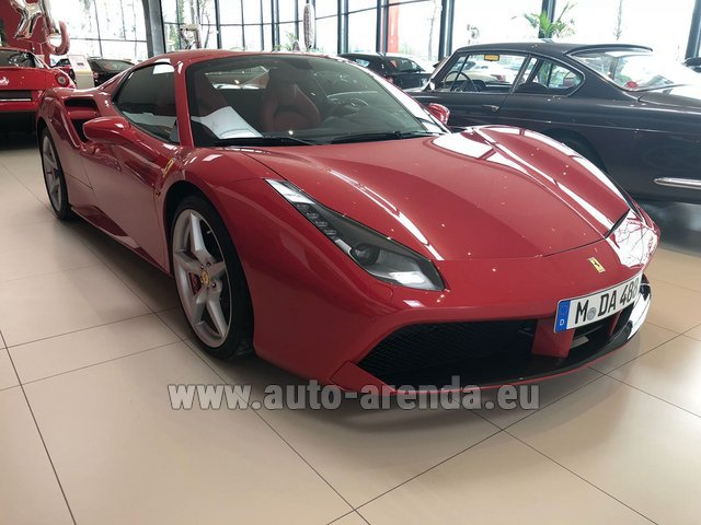 Rental Ferrari 488 Spider in Madeira