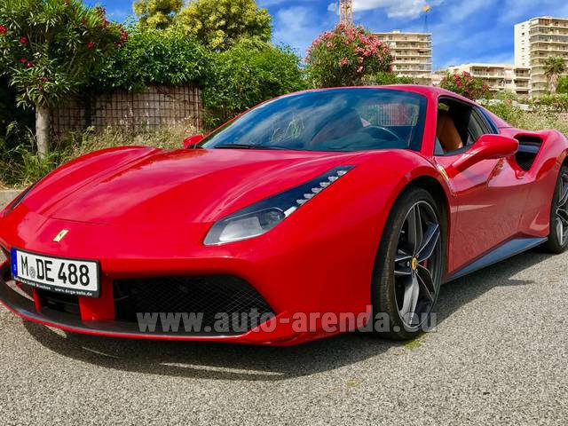 Rental Ferrari 488 in Faro