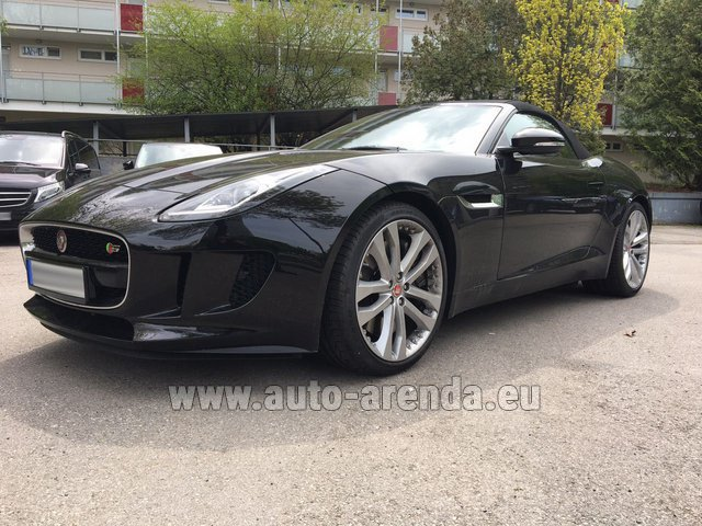 Hire and delivery to Lisbon Portela airport the car Jaguar F Type 3.0L