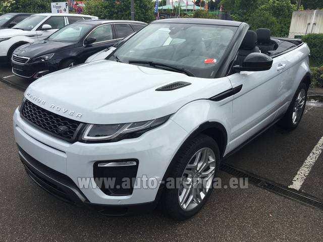 Hire and delivery to Lisbon Portela airport the car Land Rover Range Rover Evoque HSE Cabrio SD4 Aut. Dynamic