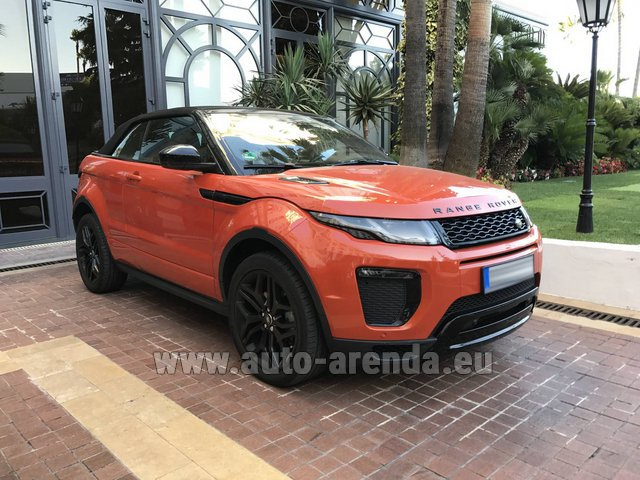 Rental Land Rover Range Rover Evoque HSE Cabrio SD4 in Madeira