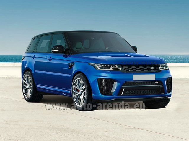Rental Land Rover Range Rover Sport SVR V8 in Portugal