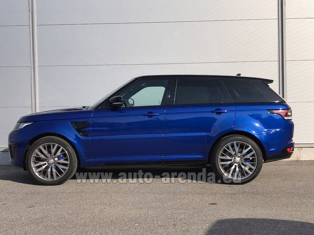 Rental Land Rover Range Sport SVR V8 in Portugal