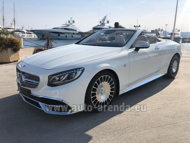 Hire and delivery to Lisbon Portela airport the car Maybach S 650 Cabriolet, 1 of 300 Limited Edition