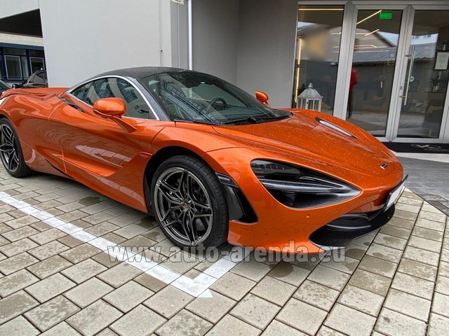 Hire and delivery to Lisbon Portela airport the car McLaren 720S