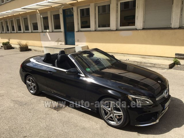 Rental Mercedes-Benz C-Class C 180 Cabrio AMG Equipment Black in Faro