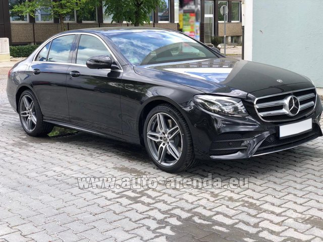 Rental Mercedes-Benz E 450 4MATIC saloon AMG equipment in Portimao