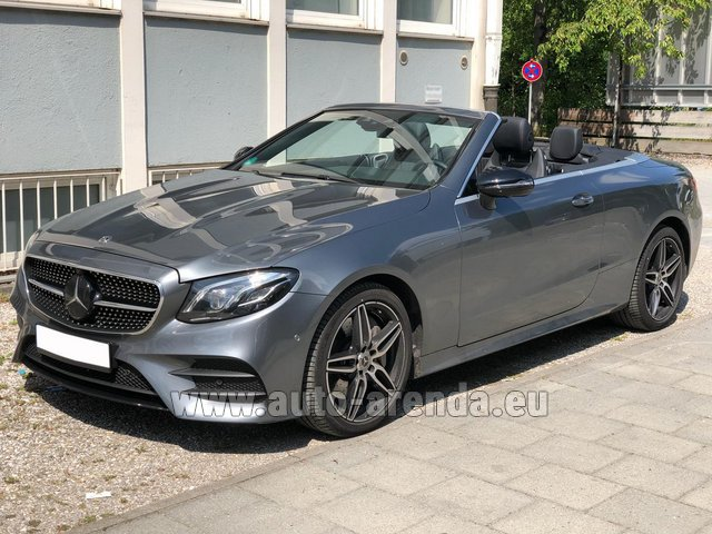 Rental Mercedes-Benz E 450 Cabriolet AMG equipment in Lisbon