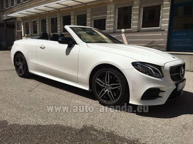 Hire and delivery to Lisbon Portela airport the car Mercedes-Benz E-Class E 200 Cabrio
