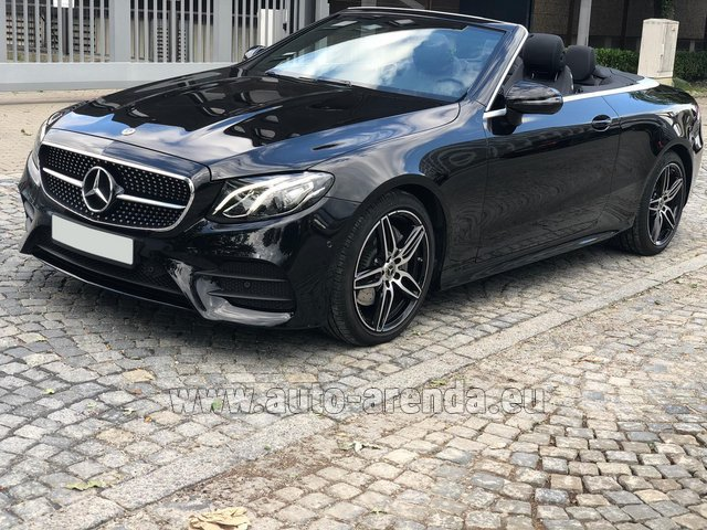 Rental Mercedes-Benz E-Class E220d Cabriolet AMG equipment in Lisbon