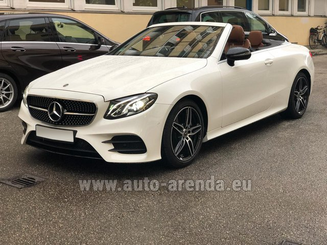 Rental Mercedes-Benz E-Class E300d Cabriolet diesel AMG equipment in Lisbon