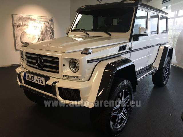 Rental Mercedes-Benz G 500 4x4 White in Lisbon