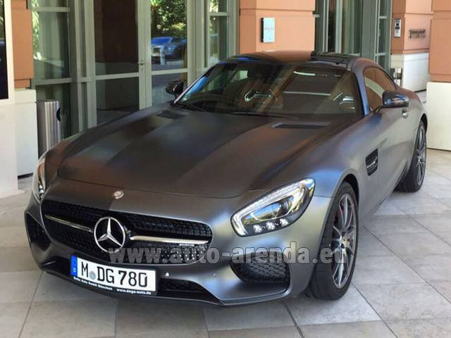 Rental Mercedes-Benz GT-S AMG in Vilamoura