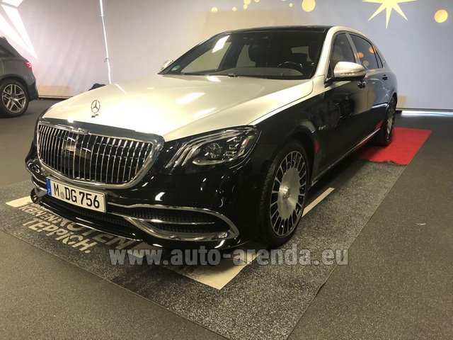 Rental Maybach S 560 4MATIC AMG equipment Metallic and Black in Faro