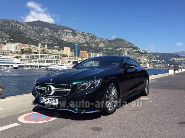 Rental Mercedes-Benz S 500 Coupe 4Matic 7G-TRONIC AMG in Madeira