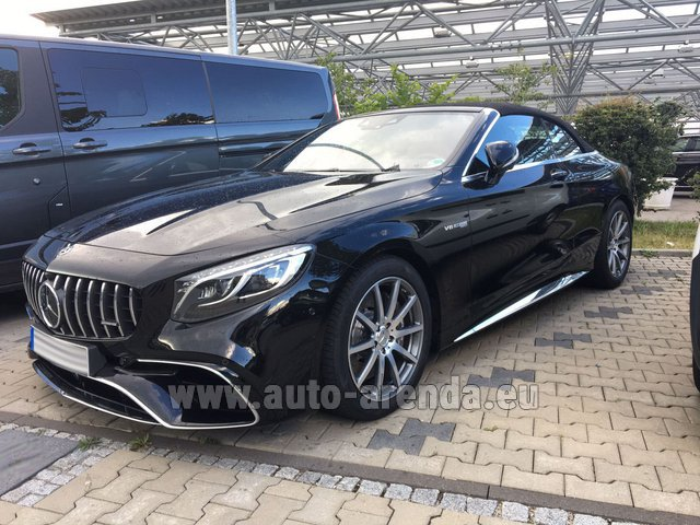 Rental Mercedes-Benz S 63 AMG Cabriolet V8 BITURBO 4MATIC+ in Faro