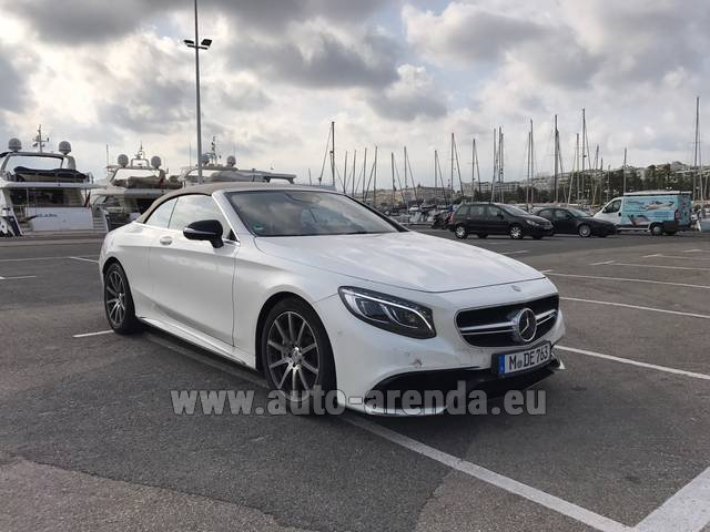 Rental Mercedes-Benz S 63 Cabrio AMG in Albufeira