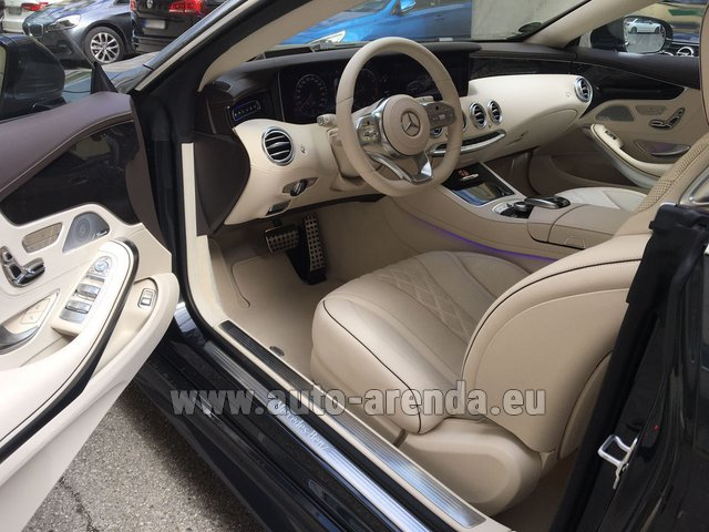 Rental Mercedes-Benz S-Class S 560 4MATIC Coupe in Algarve