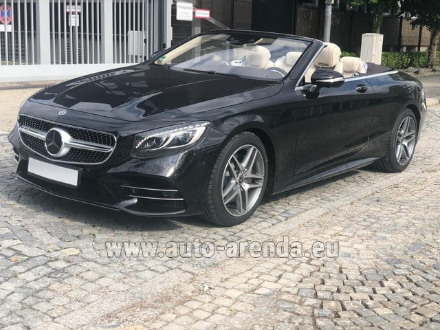 Rental Mercedes-Benz S-Class S 560 Cabriolet 4Matic AMG equipment in Lisbon