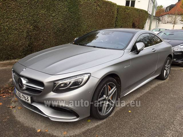 Rental Mercedes-Benz S-Class S63 AMG Coupe in Madeira