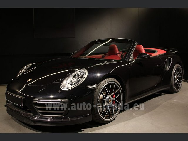 Hire and delivery to Lisbon Portela airport the car Porsche 911 991 Turbo Cabrio S LED Carbon Sitzbelüftung