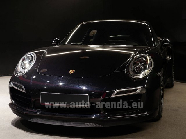 Hire and delivery to Lisbon Portela airport the car Porsche 911 991 Turbo S Ceramic LED Sport Chrono Package