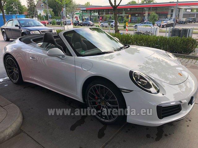 Rental price in Portugal for the car Porsche 911 Carrera 4S Cabrio White 00f14ec5e8