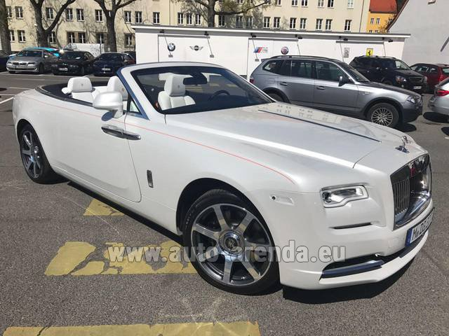 Hire and delivery to Lisbon Portela airport the car Rolls-Royce Dawn (White)