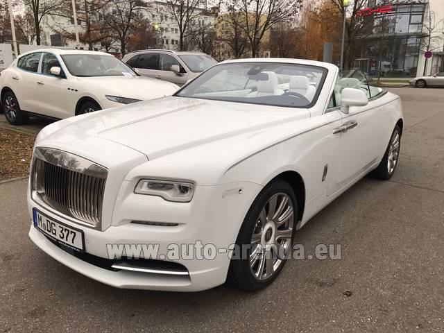 Hire and delivery to Lisbon Portela airport the car Rolls-Royce Dawn