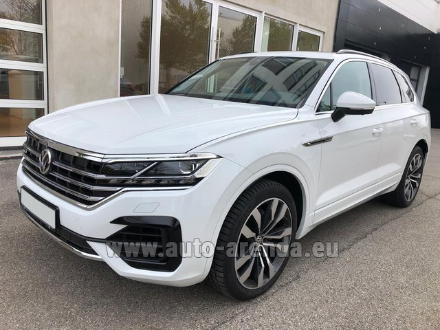 Hire and delivery to Lisbon Portela airport the car Volkswagen Touareg 3.0 TDI R-Line